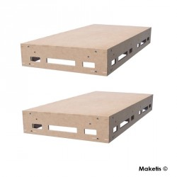 Set de 2 Easy Module Maketis 118x59 cm - Maketis