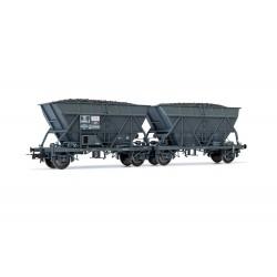 "Set de 2 wagons trémie SNCF EF60 ""SGW"" Ep III HO Jouef HJ6199"