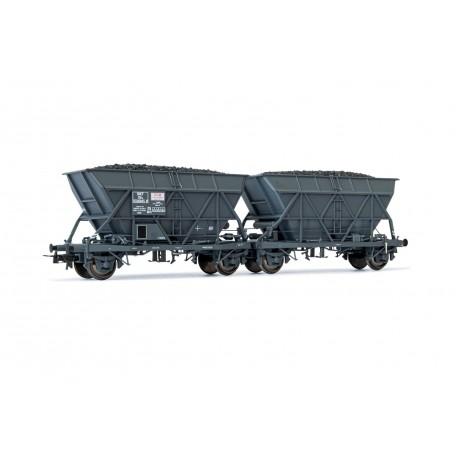 "Set de 2 wagons trémie SNCF EF60 ""SGW"" Ep III HO Jouef HJ6199 - Maketis"