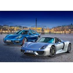 Ensemble de 2 voitures Porsche 1/24 + accessoire Revell 05681 - Maketis
