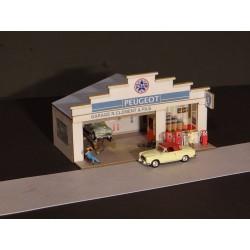 Façade petit garage Peugeot HO Régions et Compagnies FAC006