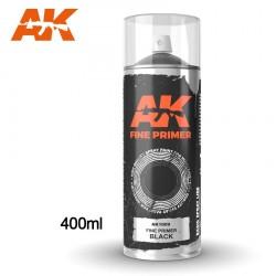 Bombe d'apprêt Noir 400ml (Inclus 2 diffuseurs) AK Interactive AK1009