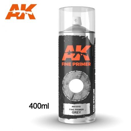 Bombe d'apprêt Gris 400ml (Inclus 2 diffuseurs) AK Interactive AK1010