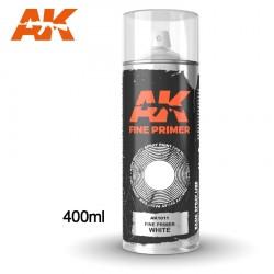Bombe d'apprêt Blanc 400ml (Inclus 2 diffuseurs) AK Interactive AK1011