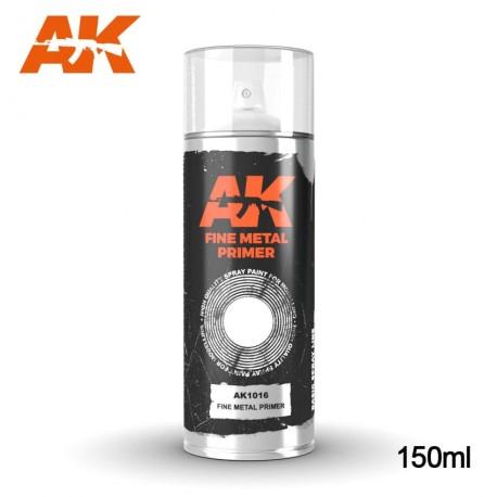 Bombe d'apprêt Gris spécial métal 150ml AK Interactive AK1016