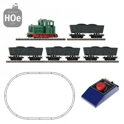 Coffret Analogique Roco HOe Train de marchandises Diesel III-VI 31034 - Maketis