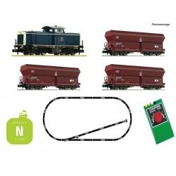 Coffret Analogique Fleischmann N Train de marchandises DB AG Ep V 931705 - Maketis