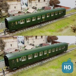 Coffret 2 voitures SNCF DEV AO 1ère + 2ème classe vert Ep IV HO Jouef HJ4133 - Maketis
