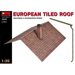 Toit en tuiles européen 1/35 MiniArt 35555