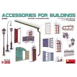 Accessoires pour bâtiments urbains 1/35 MiniArt 35585