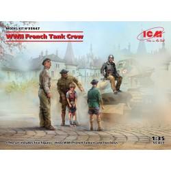 Equipage de char français WWII (5 figurines) 1/35 ICM 35647