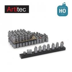 Chargement de bidons de lait 52x22 mm HO Artitec 487.801.80