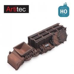 Chargement coupons voie étroite et wagonnets HO Artitec 487.801.61