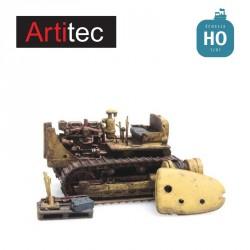 Bulldozer Caterpillar D7 rouillé RIP série HO Artitec 487.601.01