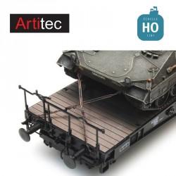 Chaînes et cales transport militaire HO Artitec 387.300