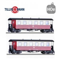 Set de 2 voitures voyageurs KB de la DR Ep IV H0e Tillig 03990 - Maketis