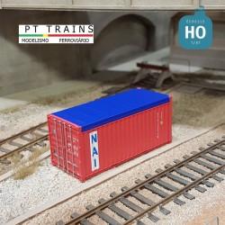 Container 20´DV PSL NAV. (NAIU4004748) HO PT TRAINS 820505 - Maketis
