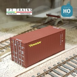 Container 20´DV TOUAX (TGCU2152573) HO PT TRAINS 820021 - Maketis