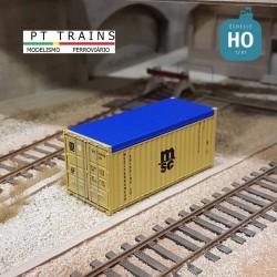 Container 20´OT MSC (MSCU2508996) HO PT TRAINS 820501.1 - Maketis