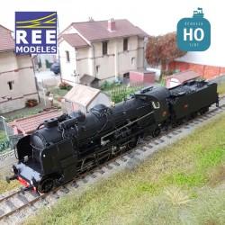 Locomotive vapeur 5-141 E 234 Grenoble tender 25 A 11 SNCF Ep III Digital son HO REE MB 128S
