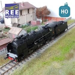 Locomotive vapeur 4-141 F 309 Périgueux tender 25 A 47 SNCF Ep III Digital son HO REE MB 126S