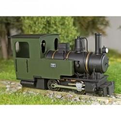 Locomotive à vapeur Henschel RIESA 0-4-0 verte H0e Minitrains 2062 - Maketis