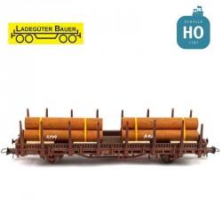 Ensemble de tuyaux fer 2 pièces HO Ladegüter Bauer H01001 - Maketis