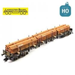 Tas de tôle en acier (palplanche) HO Ladegüter Bauer H01007 - Maketis