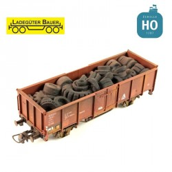 Used tyre for open freight cars H0 Ladegüter Bauer H01027