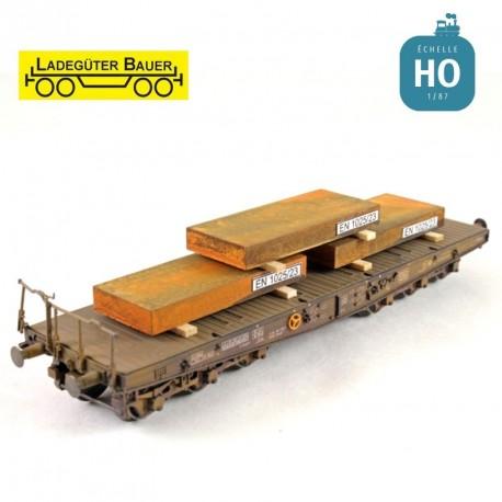 Iron slab (3 pcs) H0 Ladegüter Bauer H01034 - Maketis