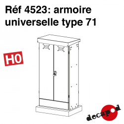 Armoire universelle type 71 HO Decapod 4523 - Maketis