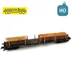 Stahlplattenset 2, kurz/lang H0 Ladegüter Bauer H01047