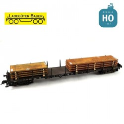 Stahlplattenset 2, kurz/lang HO Ladegüter Bauer H01047