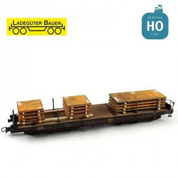Blechplattenpakete, 2 teilig Ladegüter Bauer HO Bah01063