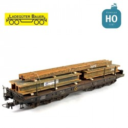 H-förmige Stahlprofile 1 H0 Ladegüter Bauer H01064