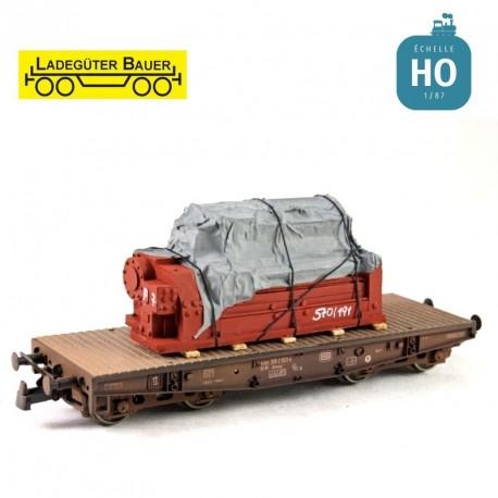 Industriemaschine unter Plane H0 Ladegüter Bauer H01085 - Maketis