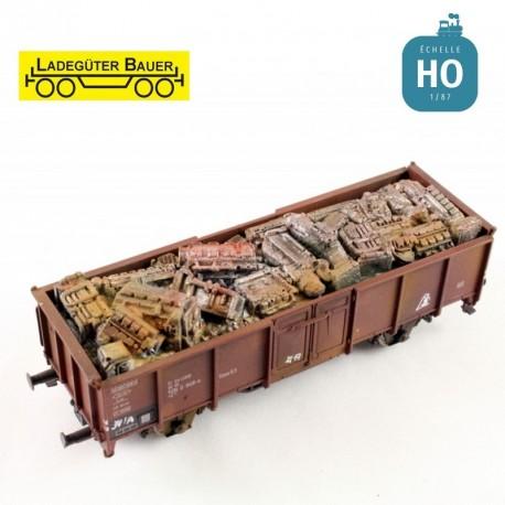 Ferraille de moteur pour tombereau à essieux HO Ladegüter Bauer H01089 - Maketis