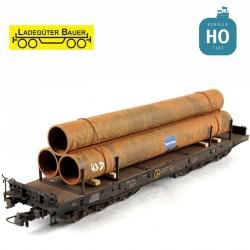 Longs tuyaux en acier HO Ladegüter Bauer H01132 - Maketis
