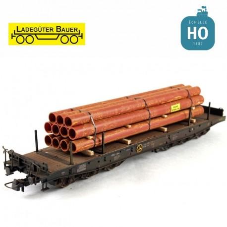 Faisceau de tubes de fer HO Ladegüter Bauer H01135 - Maketis