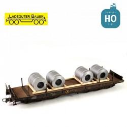 Weiße Stahlspulen H0 Ladegüter Bauer H01163 - Maketis