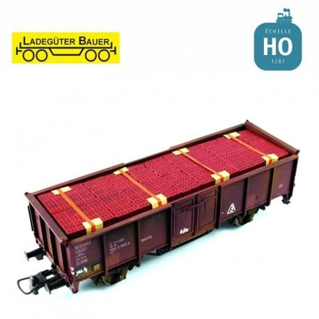 Briques, petites tailles pour tombereau à essieux HO Ladegüter Bauer H01180 - Maketis