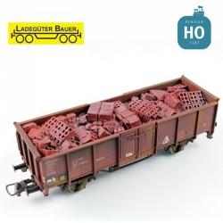 Gravats de briques pour tombereau à essieux HO Ladegüter Bauer H01184 - Maketis