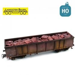 Gravats de briques pour tombereau à bogies type Eaos HO Ladegüter Bauer H01185 - Maketis