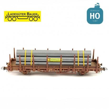 Tubes en acier revêtus HO Ladegüter Bauer H01208 - Maketis