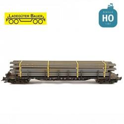 Poutres acier en I petites longueurs HO Ladegüter Bauer H01214 - Maketis
