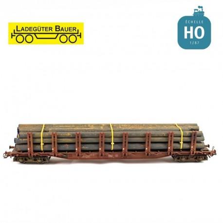 Tuyaux de fer grande longueur HO Ladegüter Bauer H01218 - Maketis