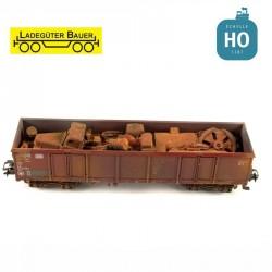 Ferraille mixte pour tombereau à bogies type Eaos HO Ladegüter Bauer H01221 - Maketis