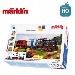 """Coffret de départ Start up """"train en briques encastrables"""" Vapeur HO Märklin 29730 - Maketis"""