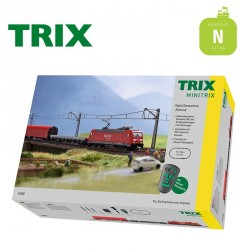 Coffret de départ digital Train marchandises DB AG Ep VI N Minitrix T11145 - Maketis