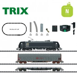 Coffret de départ digital Train marchandises MRCE Ep VI N Minitrix T11147 - Maketis